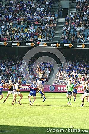 Australian rules football Editorial Stock Image