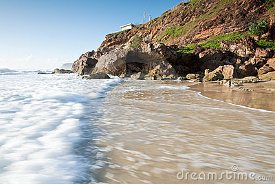 Australian seascape with rushing wave