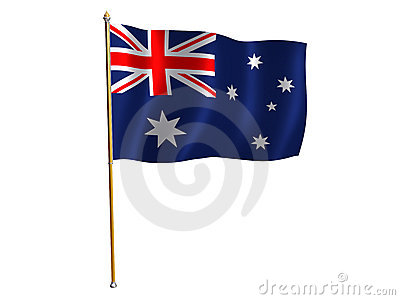 Australian silk flag