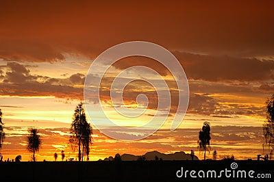 Australian sunset Editorial Photography