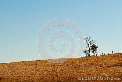 Australian undulating outback winter horizon
