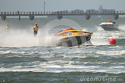 Australian Water Ski Racing Editorial Stock Photo