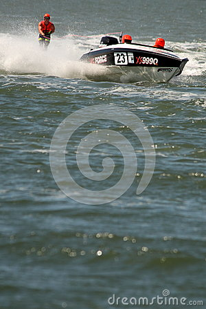 Australian Water Ski Racing Editorial Photo