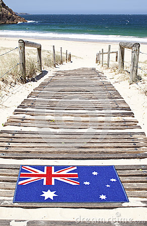Australia Flag Beach Port Stephens NSW