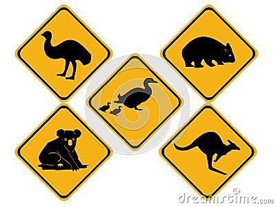 Australian wildlife road signs