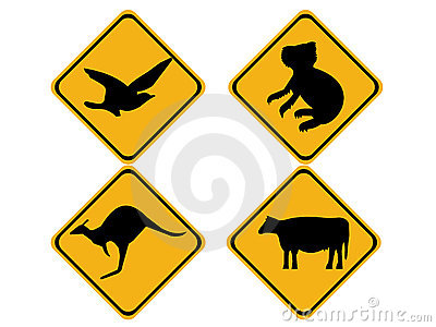 Australian wildlife signs