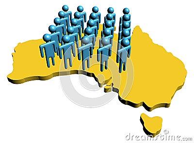 Australian workforce illustration