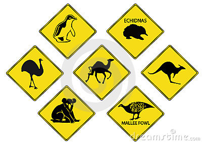 Australians Road Signs