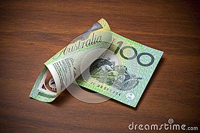 Australiensisk billdollar hundra en