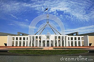 Australiensisk byggande canberra parlament