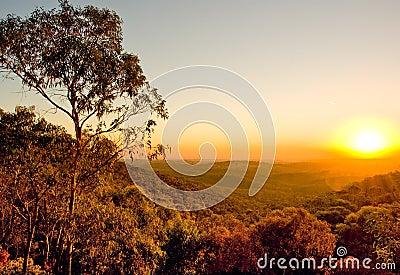 Australiensisk solnedgång