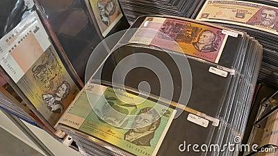 Australische dollar verschillende benamingen stock footage
