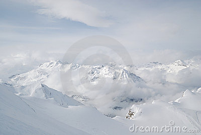 Austria. Alps. Kaprun glacier ski resort