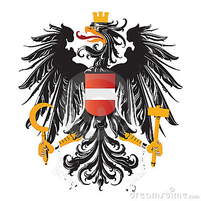 Austria coat of arms isolated