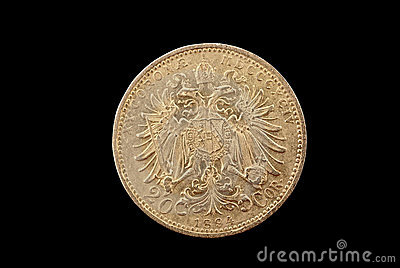Austria-Hungary ancient gold coin