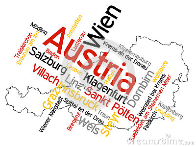 Austria map and cities