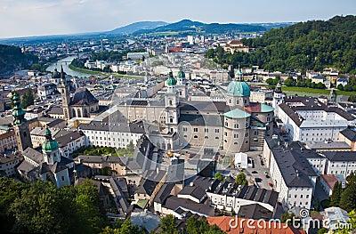 Austria, Salzburg, City View