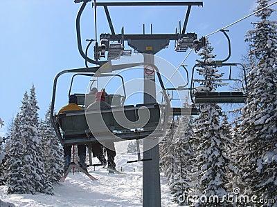 Austria / Skiing, chair lift