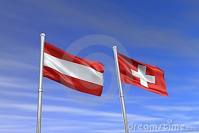 Austria and Switzerland flag
