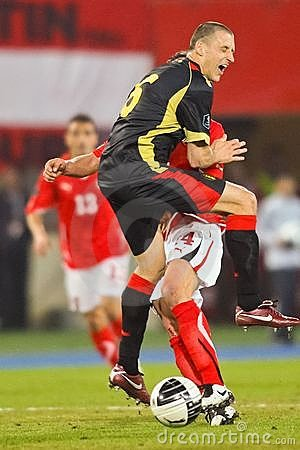 Austria vs. Belgium Editorial Stock Photo