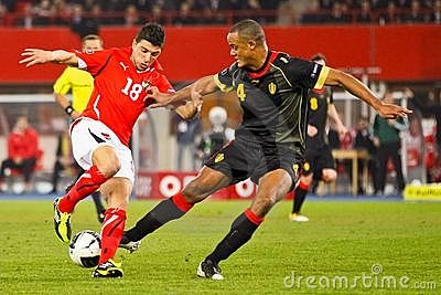 Austria vs. Belgium Editorial Stock Image