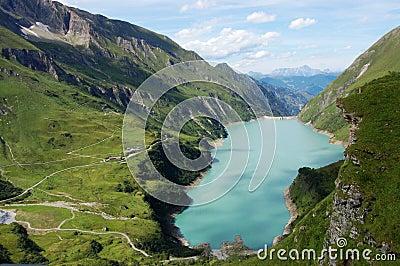 Austrian alps landscape - Kaprun in Austria