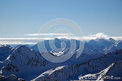 Austrian Alps sharp peaks