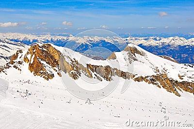 Austrian alps ski slope landscape