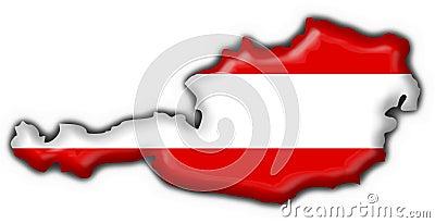 Austrian button flag map shape