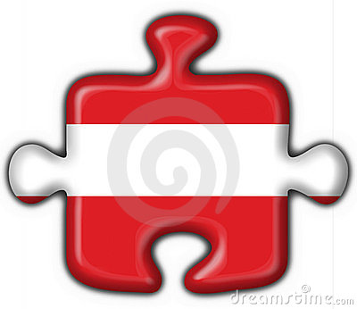 Austrian button flag puzzle shape