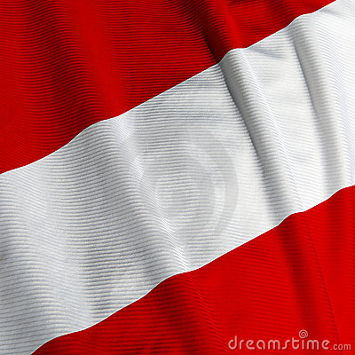 Austrian Flag Closeup