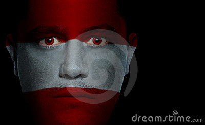 Austrian Flag - Male Face