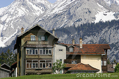 Austrian House in Mountains