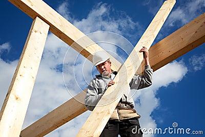 Autentisk byggnadsarbetare