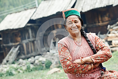 Authentic indian country villager woman