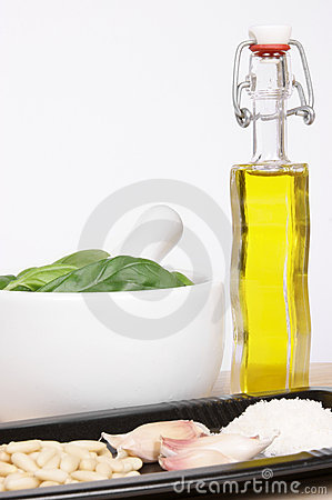 Authentic italian pesto sauce ingredients