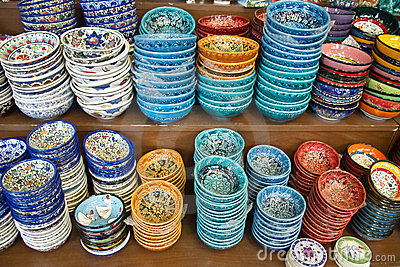 Authentic Iznik tile work bowls