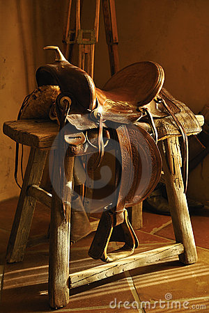 Authentic Leather Saddle