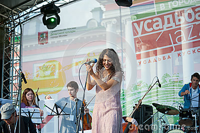 Authentic Light Orchestra performs at Usadba Jazz Festival Editorial Stock Image