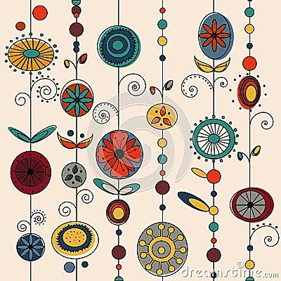 Authentic ornament design vector