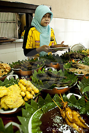Authentic Sundanese Food Bandung Editorial Photo