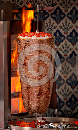 Authentic turkish doner kebab