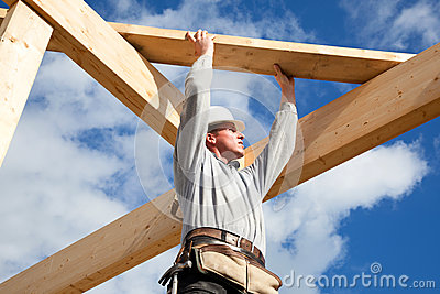 Authentischer Bauarbeiter