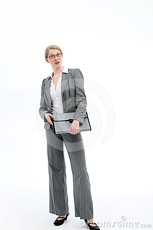 Authoritative confident businesswoman