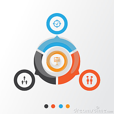 Free Authority Icons Set. Collection Of Approved Target, Report Demonstration, Team Meeting And Other Elements. Also Includes Stock Image - 96605771