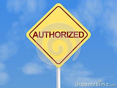 Authorized sign