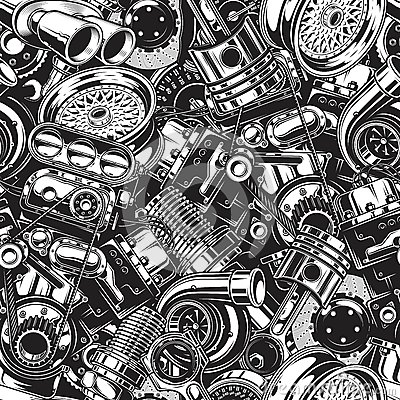 Free Autimobile Car Parts Seamless Pattern Royalty Free Stock Photography - 88414177
