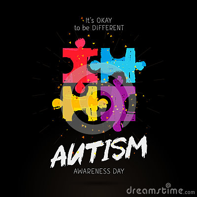 Free Autism Awareness Day. It`s Okay To Be Different Stock Photos - 86561903