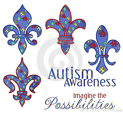 Autism Awareness Fleur Designs
