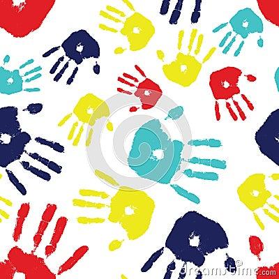 Autism Handprint Seamless Tile